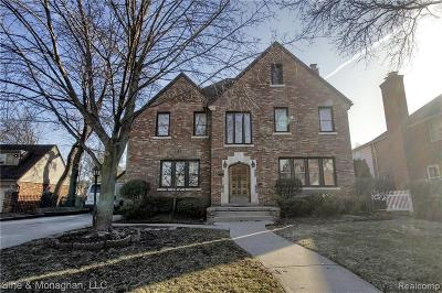 Grosse Pointe Park Single Family Home For Sale: 1148 Grayton St
