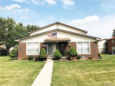 Sterling Heights Condo/Townhouse For Sale: 35500 Townley Drive
