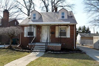 Lincoln Park Single Family Home For Sale: 937 Highland Ave