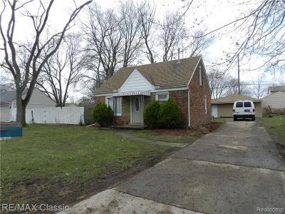 Farmington Hills Single Family Home For Sale: 22741 Colgate St St