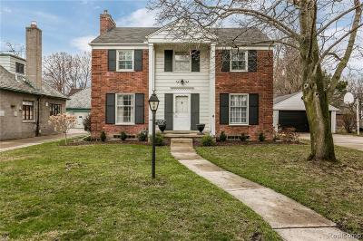 Grosse Pointe Park Single Family Home For Sale: 659 Lakepointe St