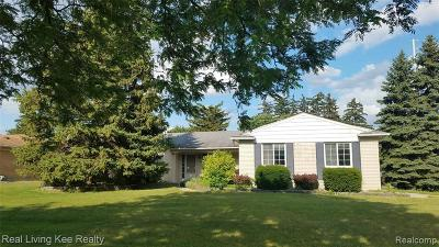Troy Single Family Home For Sale: 4550 Bonniebrook Dr