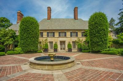Bloomfield Hills Single Family Home For Sale: 3950 Franklin Rd