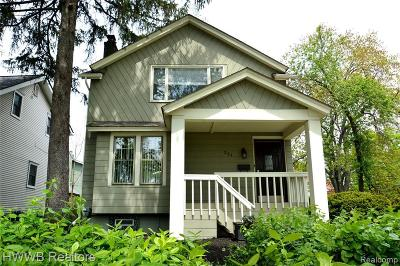 Birmingham Single Family Home For Sale: 251 E Lincoln St