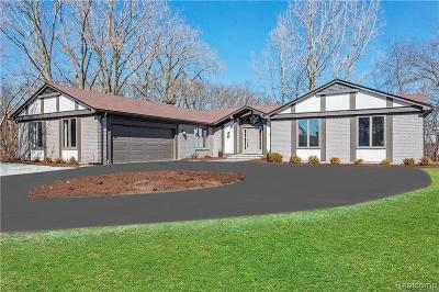 Bloomfield Hills Single Family Home For Sale: 1840 Marie Cir