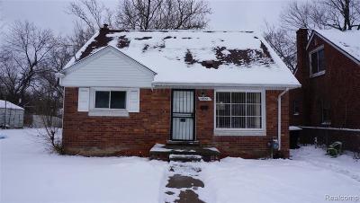 Detroit Single Family Home For Sale: 18951 Kentfield St