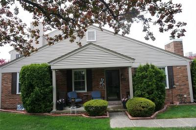 Clinton Township Condo/Townhouse For Sale: 44638 N Bunkerhill Dr