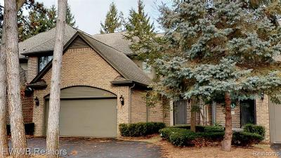Bloomfield Hills Condo/Townhouse For Sale: 843 Adams Crt