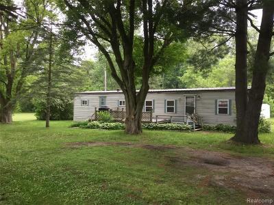 Lapeer Single Family Home For Sale: 219 Burnside Rd
