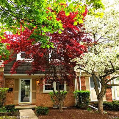Troy Condo/Townhouse For Sale: 1599 Brentwood Dr