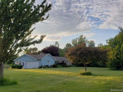 Lapeer Single Family Home For Sale: 2247 Johnson Mill Rd