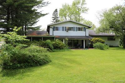 Burtchville Single Family Home For Sale: 7830 Lakeshore Rd
