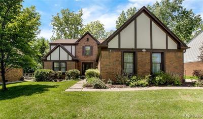 Rochester Hills Single Family Home For Sale: 1237 Sandy Ridge Dr