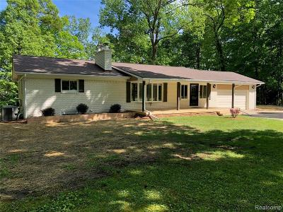 Lapeer Single Family Home For Sale: 5725 N Hadley Rd