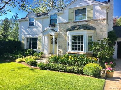Grosse Pointe Farms Single Family Home For Sale: 348 Touraine Rd