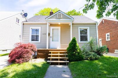 Lincoln Park Single Family Home For Sale: 1208 White Ave