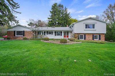 Bloomfield Hills Single Family Home For Sale: 1724 Timson Ln