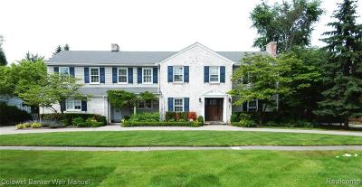 Grosse Pointe Single Family Home For Sale: 88 Sunningdale