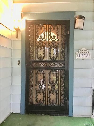 Wayne Single Family Home For Sale: 1738 Casgrain St