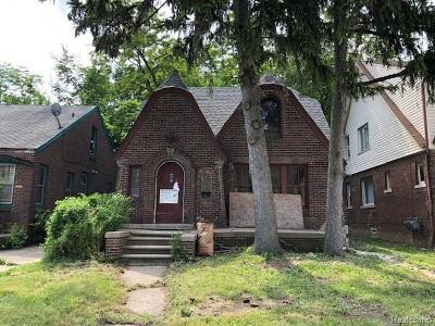 Detroit Single Family Home For Sale: 8609 Ohio St