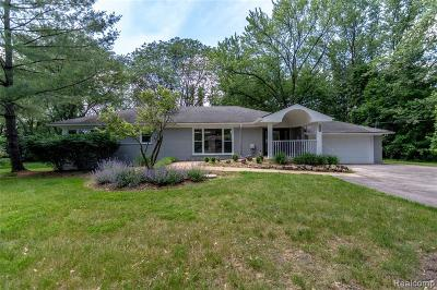 Franklin MI Single Family Home For Sale: $490,000