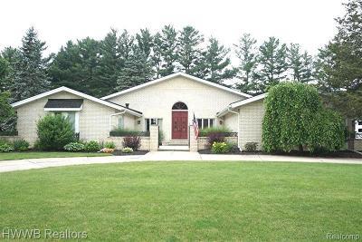 Clinton Township Single Family Home For Sale: 37893 Saddle Ln