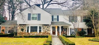 Bloomfield Hills Single Family Home For Sale: 275 Hamilton Rd