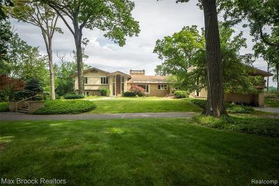 Bloomfield Hills Single Family Home For Sale: 3515 Brookside Dr