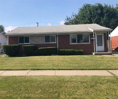 Allen Park Single Family Home For Sale: 18840 Goddard Rd