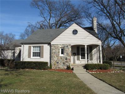 Huntington Woods Single Family Home For Sale: 13300 Wales Ave