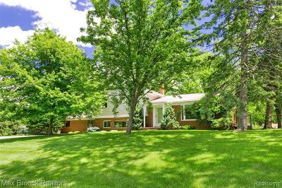 Bloomfield Hills Single Family Home For Sale: 1965 Lakeward Ln