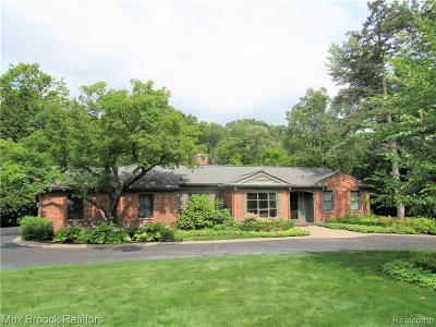 Bloomfield Hills Single Family Home For Sale: 620 Overbrook Rd
