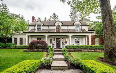 Bloomfield Hills Single Family Home For Sale: 759 Wooddale Rd