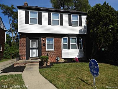Detroit Single Family Home For Sale: 19140 Appoline St N