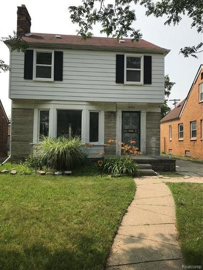 Detroit Single Family Home For Sale: 14411 Vassar Ave