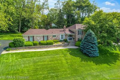 Bloomfield Hills Single Family Home For Sale: 3835 Lakecrest Dr