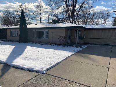 Trenton Single Family Home For Sale: 1620 Grange Rd