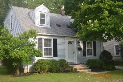 Royal Oak Single Family Home For Sale: 307 N Blair Ave