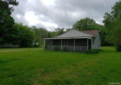 Flint Single Family Home For Sale: 2147 Mill Rd