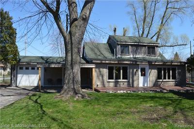 Algonac  Single Family Home For Sale: 124 Roselawn St