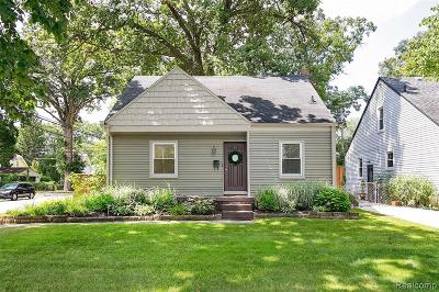 Royal Oak Single Family Home For Sale: 526 S Vermont Ave