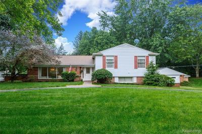 Franklin Single Family Home For Sale: 26069 Shelly Lynn Crt