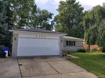 Warren Single Family Home For Sale: 2486 Matilda Crt