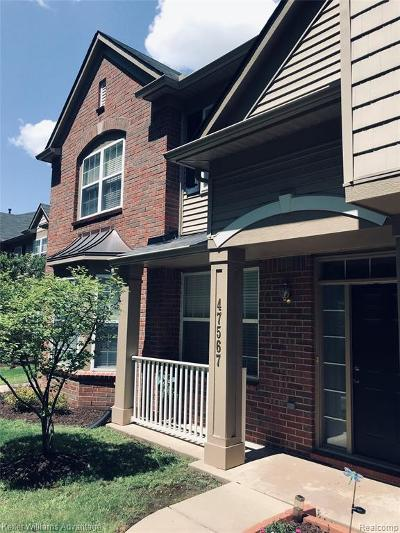 Canton Condo/Townhouse For Sale: 47567 Pembroke Dr