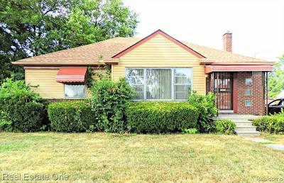 Wayne County Single Family Home For Sale: 25034 Schoolcraft