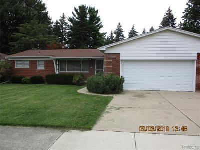Allen Park Single Family Home For Sale: 15952 Bellaire Avenue