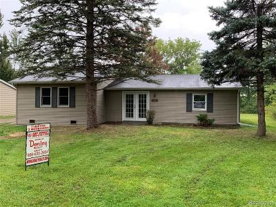Brown City MI Single Family Home For Sale: $129,900