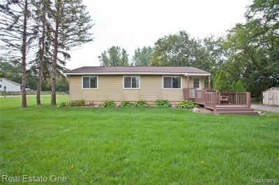Clarkston Single Family Home For Sale: 9445 Big Lake Rd