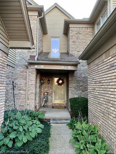 Oakland County Condo/Townhouse For Sale: 702 S Milford Rd