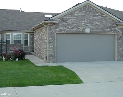 Macomb Twp Condo/Townhouse For Sale: 49729 Hidden Valley